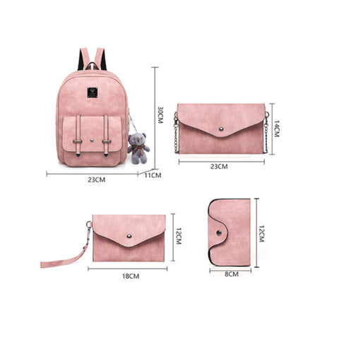 2020 new college style multi-piece suit women's backpack