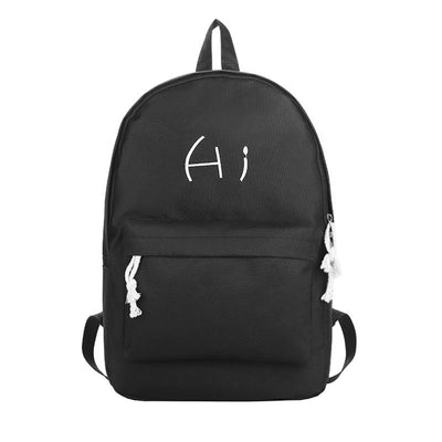 2020 new Korean version of the stylish alphabet canvas women's backpack