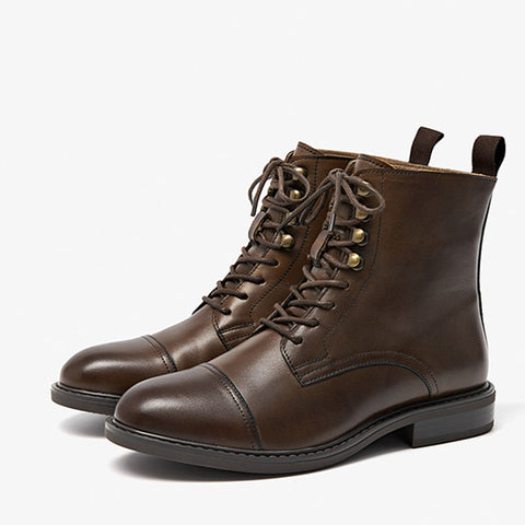 2019 autumn and winter thick with leather British wind Martin boots