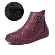Fashion trend hand-stitched suede leather casual flat women's boots