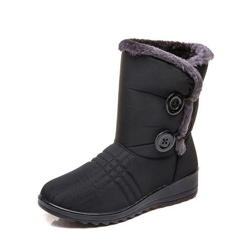 Winter new low heel plus velvet waterproof warm snow boots