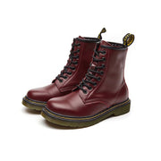 autumn new British wind Martin boots female thick with low heel leather boots