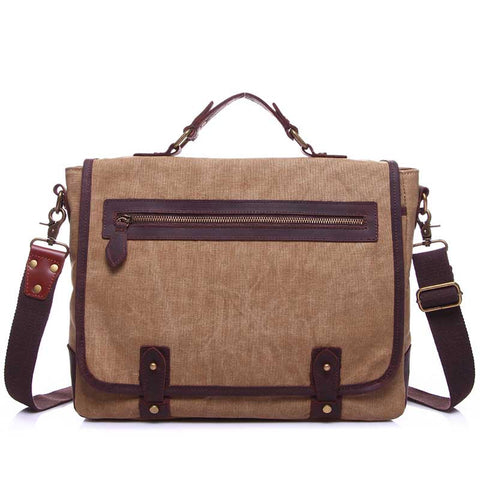 Vintage Men's One Shoulder Document Crossbody Bag