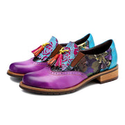 new casual retro national style Brock tassel leather fashion shoes