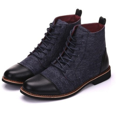 2019 new autumn and winter men's leather Martin boots