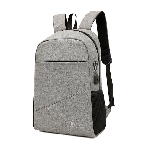 New solid color backpack men and women backpack schoolbag computer bag outdoor travel multifunctional large capacity backpack
