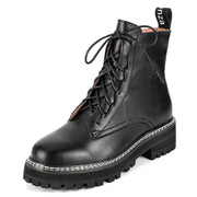 2019 autumn and winter Martin boots female breathable handsome thick-soled tooling black British fan car booties