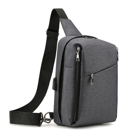 New men's shoulder bag casual outdoor sports messenger bag multifunctional breathable chest bag men's bag