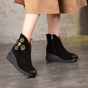 2019 autumn and winter new retro handmade women's shoes