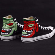 Graffiti hand-painted canvas tide shoes