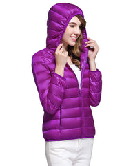2019 autumn and winter new slim short hooded light down jacket coat tide