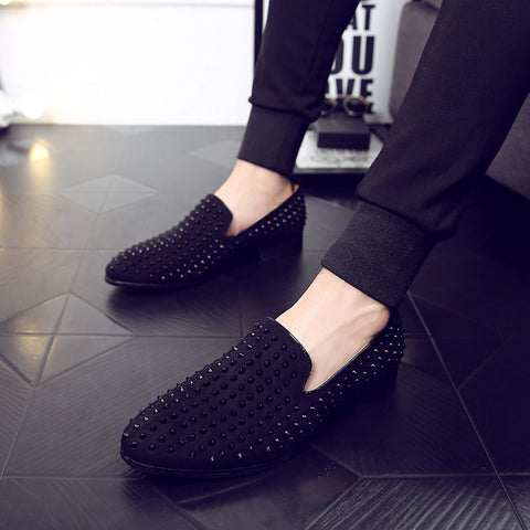 Casual fashion rivet slip-on shoes
