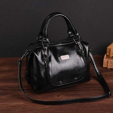 2020 New PU Leather Pure Color Lacquered Women's handbags