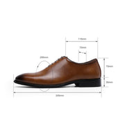 New cowhide business men's leather shoes with soft memory foam