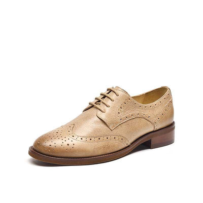 Bullock leather thick with retro British wind increased oxford shoes