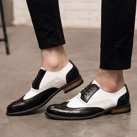 Summer black and white color matching casual shoes