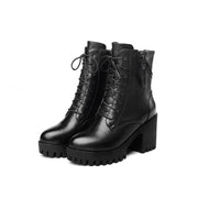 2019 autumn and winter new waterproof platform thick bottom plus velvet women's boots