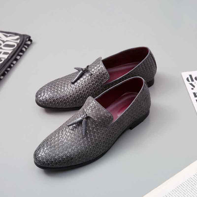 Men's casual carved peas shoes