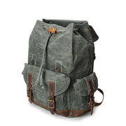Vintage waterproof travel oil wax canvas backpack