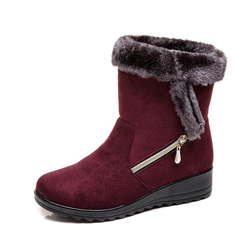 2019 winter new casual fashion flat with velvet mid-help ladies snow boots