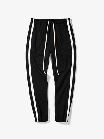 Simple striped men's feet sports pants couple casual pants