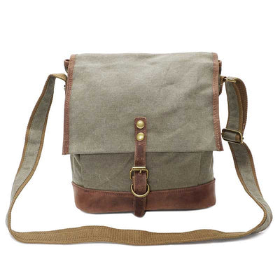 Crossbody canvas one-shoulder men's buckle retro bag