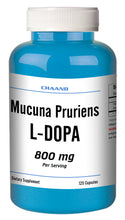 Load image into Gallery viewer, Mucuna Pruriens 800mg Natural L-DOPA 20% BEST DEAL 120 Capsules Velvet Bean CH