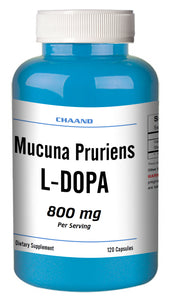 Mucuna Pruriens 800mg Natural L-DOPA 20% BEST DEAL 120 Capsules Velvet Bean CH