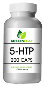 5-HTP 200mg Serving Big Bottle 120 Capsules Greeen Leaf