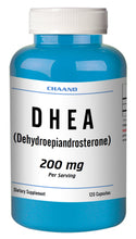 Load image into Gallery viewer, DHEA 200mg Serving High Potency Big Bottle 120 Capsules CH