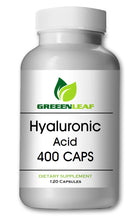Load image into Gallery viewer, Hyaluronic Acid 400mg Serving 120 Capsules 1.1 Million Dalton Big Bottle GL