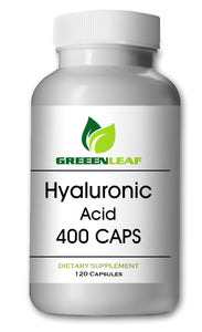 Hyaluronic Acid 400mg Serving 120 Capsules 1.1 Million Dalton Big Bottle GL