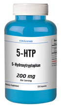 Load image into Gallery viewer, 5-HTP 200mg Big Bottle 120 Capsules Weight Management Mood Serotonin Gluten FREE Chaand
