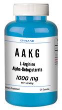Load image into Gallery viewer, AAKG L-Arginine Alpha-Ketoglutarate 1000mg Serving Big Bottle 120 Capsules CH