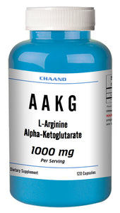 AAKG L-Arginine Alpha-Ketoglutarate 1000mg Serving Big Bottle 120 Capsules CH
