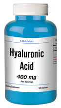 Load image into Gallery viewer, Hyaluronic Acid 400mg Serving High Potency Big Bottle 120 Capsules CH