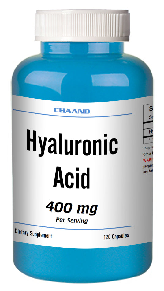 Hyaluronic Acid 400mg Serving High Potency Big Bottle 120 Capsules CH