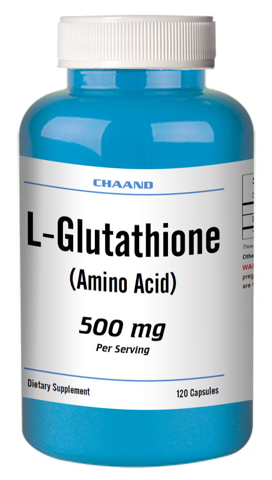 L-Glutathione 500mg Serving 120 Capsules Best Quality BIG BOTTLE CH