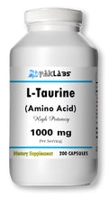 Load image into Gallery viewer, L-Taurine Amino Acid 1000mg Per Serving 200 Capsules Big Bottle USA Shipping PL