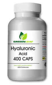 Hyaluronic Acid 400mg Serving 200 Capsules 1.1 Million Dalton Big Bottle GL