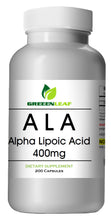Load image into Gallery viewer, ALA Alpha Lipoic Acid 400mg CAPS Extreme Strength Big Bottle 200 Capsules GL