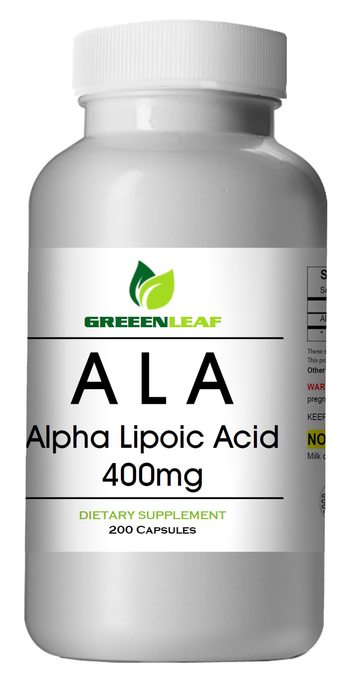 ALA Alpha Lipoic Acid 400mg CAPS Extreme Strength Big Bottle 200 Capsules GL