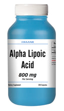 Load image into Gallery viewer, ALA Alpha Lipoic Acid 800mg Serving Extreme Strength Big Bottle 200 Capsules CH