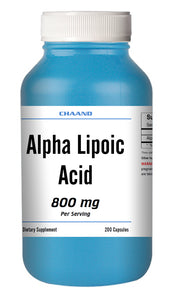 ALA Alpha Lipoic Acid 800mg Serving Extreme Strength Big Bottle 200 Capsules CH