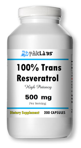 Trans Resveratrol 500mg High Potency 200 Capsules Big Bottle NEW STOCK PL