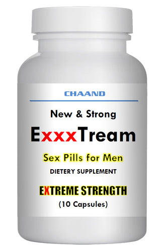 ExxxTREAM AMAZING SEX PILLS FOR MEN - 1 BRAND NEW BOTTLE - Extreme Hard Erection