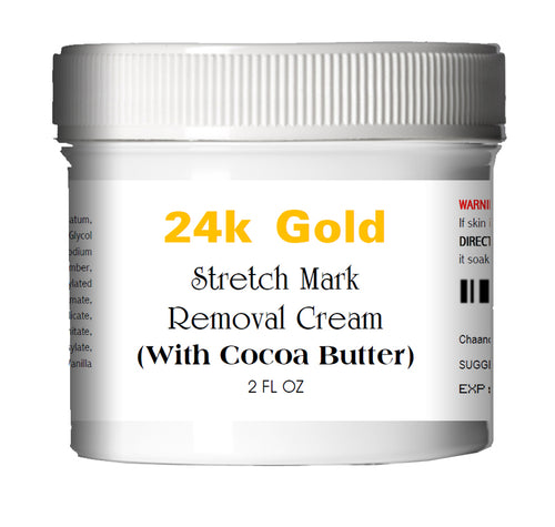 24k Gold Stretch Mark Removal Cream for Women (Large Jar) 2.0 oz