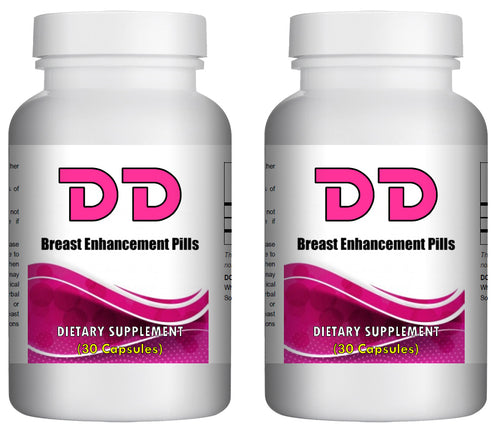 DD - Breast Enhancement Pills - 30 Pills Bottle 1000mg Per Serving (2 Bottles) 60 Pills