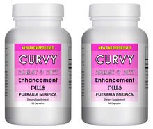 Load image into Gallery viewer, CURVY - Breast and Butt Enhancement Pills - 30 Pills Bottle 1000mg Per Serving (2 Bottles)