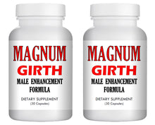 Load image into Gallery viewer, MAGNUM GIRTH - MALE PENIS ENLARGER THICKER LONGER BIGGER GROWTH 60 ENLARGEMENT PILLS 2x Bottles